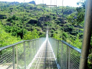 Die Hängebrücke von Khndzoresk