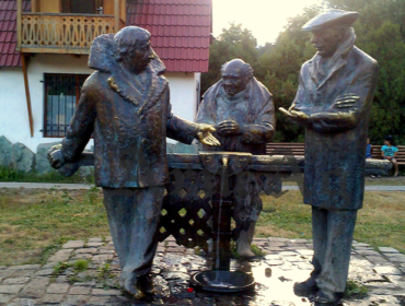 "Das Denkmal ""Mimino"" in Dilidschan"