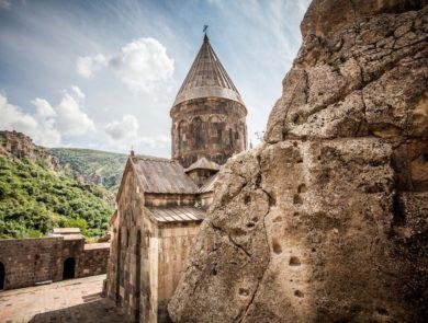 Geghard cave-cut monastery