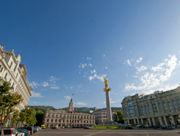 Freedom square in Tbilisi
