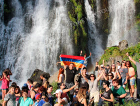 Shaki waterfall, Old Khndzoresk, Noravank, Karahunj