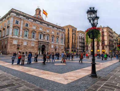 Plaza de San Jaume in Barcelona