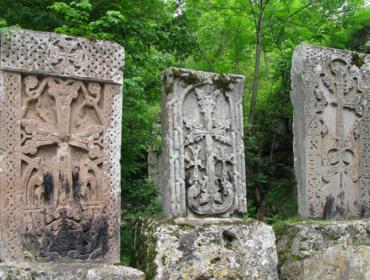 Хачкары в монастырe Агарцин