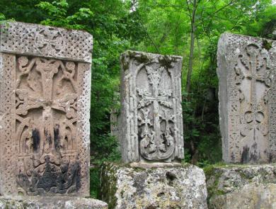 Khachkars in Haghartsin monastery