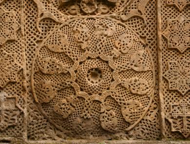 a khachkar in Goshavank monastery