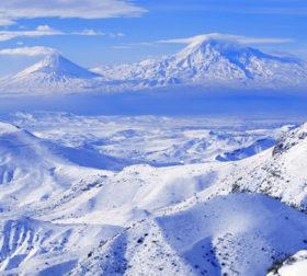 Зимний пейзаж Армении