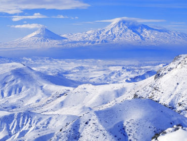 Winter landscape in Armenia