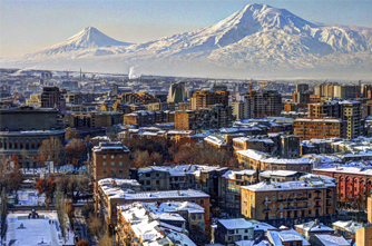 Yerevan in winter