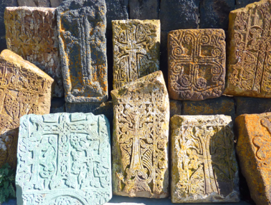 Cross stones, Sevanavank Monastery