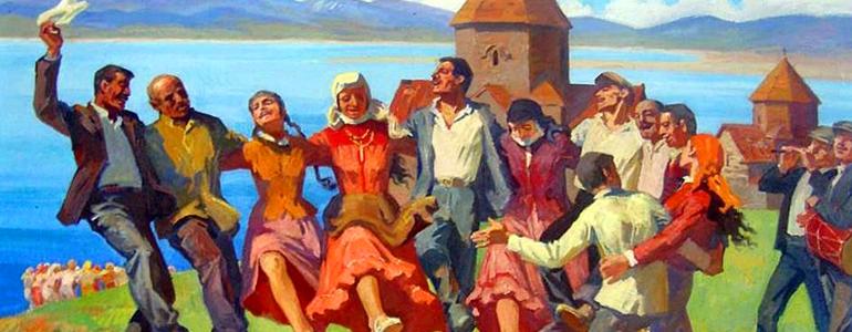 Armenische schönste vier Nationaltänze