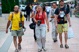 Туристы в Армении