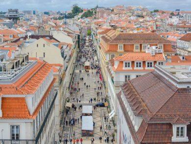 Baixa District in Lisbon