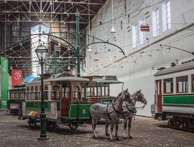 Museum of trams in Porto