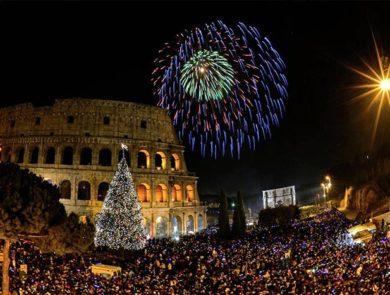 New Year Fireworks, Coliseum