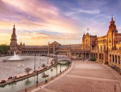 Monumental Plaza of Spain in Seville
