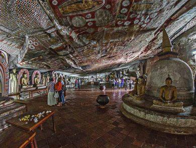 The Dambulla Caves, Sri-Lanka
