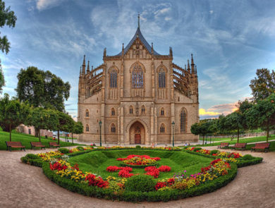 The cathedral of St.Barbara in Kutná Hora