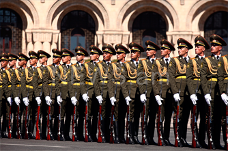 Military parade on the Independence Day of Armenia