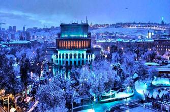 Ночной Ереван зимой