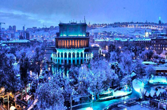 Jerewan im Winter