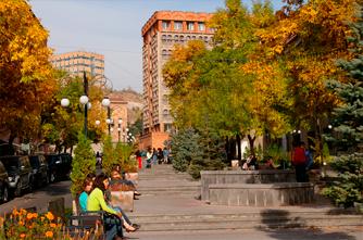 Herbststimmung in Jerewan