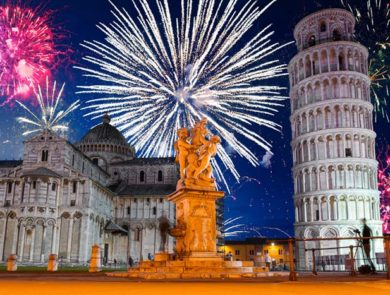 New Year Fireworks, Pisa