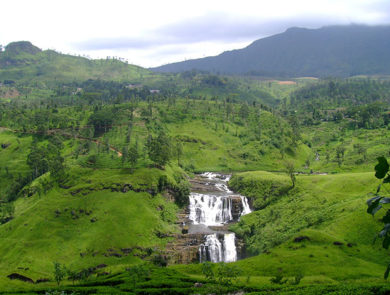 The waterfalls of Nuwara Eliya