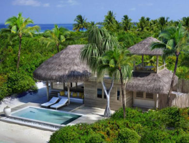 Oluveli Island in the Maldives
