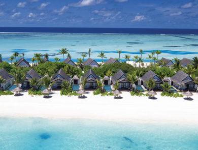 Sandy island in the Maldives
