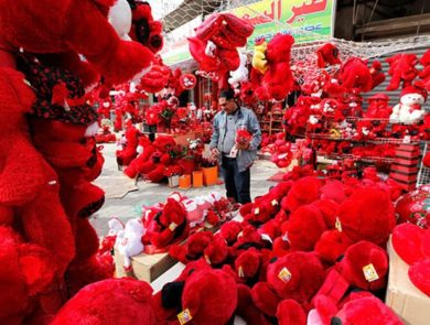 Egyptian streets on Valentine's Day