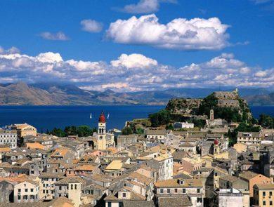 Corfu island town