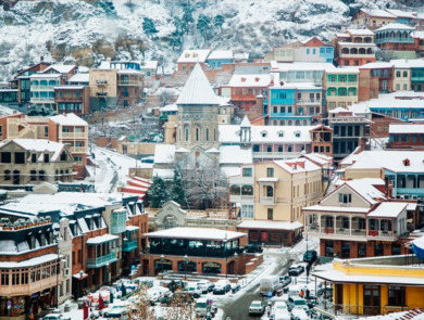 Sighnaghi in winter