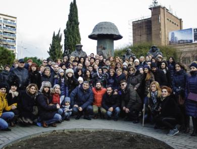 Наша большая группа в Тбилиси