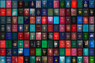 Passports from all over the world