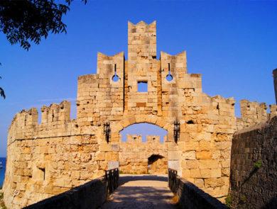 Rhodes Town walls gate