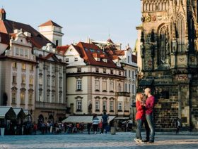 Love celebration in Prague