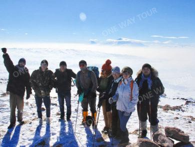 Besteigung den Berg Hatis