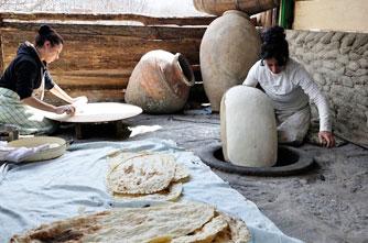Lavash baking