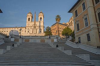 Իսպանական աստիճաններ, Հռոմ