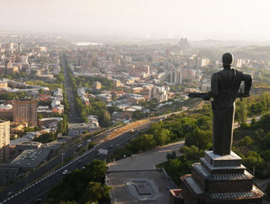The monument of Mother Armenia