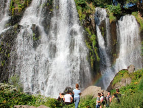 Tatev and Shaki waterfall