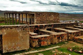 Die Ruinen der Festung Erebuni