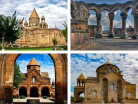 Etchmiadzin (Mother Cathedral, St Gayane, St Hripsime), Zvartnots Cathedral