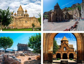Garni, Geghard, Etchmiadzin (Mother Cathedral, St. Gayane, St. Hripsime)