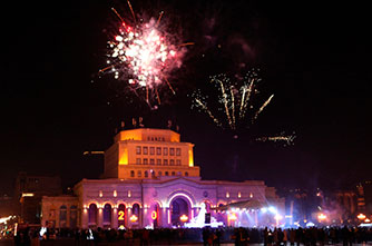 Fireworks in Republic Square