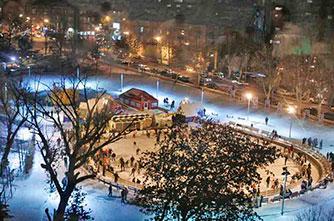 Skating rink in Yerevan