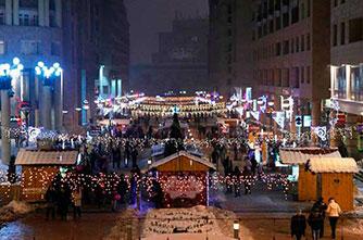 Weihnachtsstimmung in Eriwan