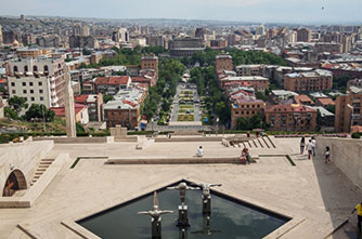 Yerevan from above