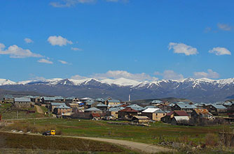 Das Tsaghkunyats-Gebirge