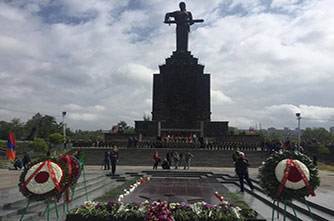 How are May holidays celebrated in Yerevan and in Armenia?